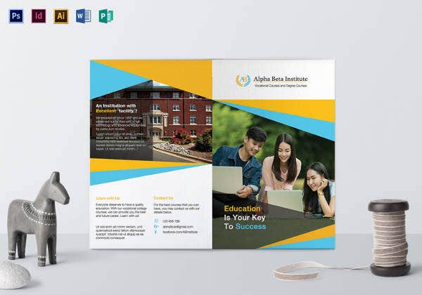 editable course brochure template