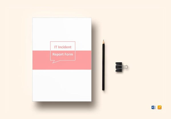 editable it incident report template