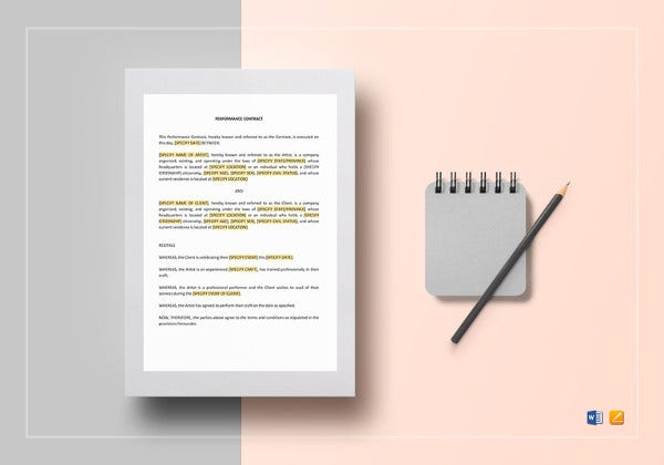 editable-performance-contract-template