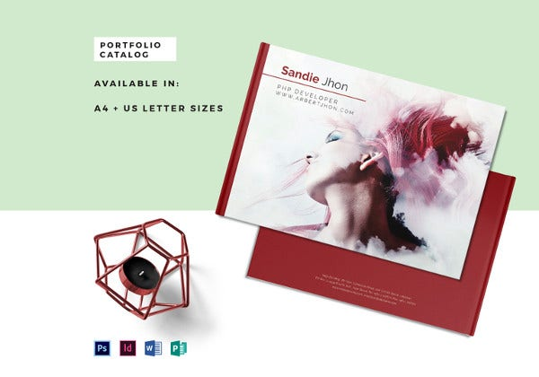 editable portfolio catalog psd template