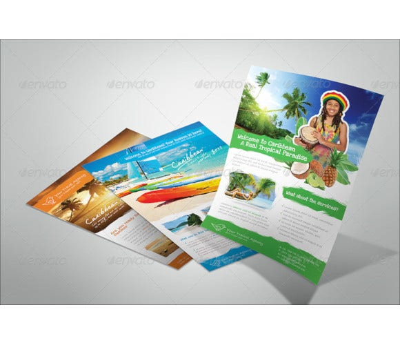 editable travel flyer template1