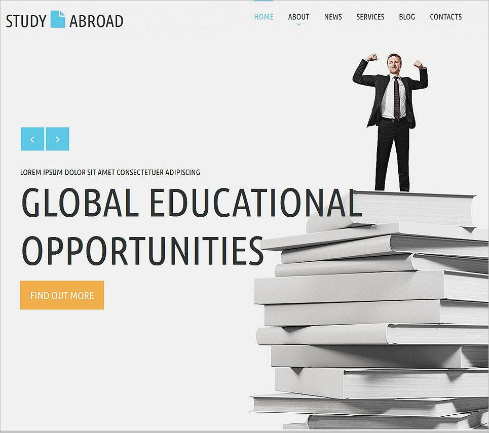 education moto cms html template 2