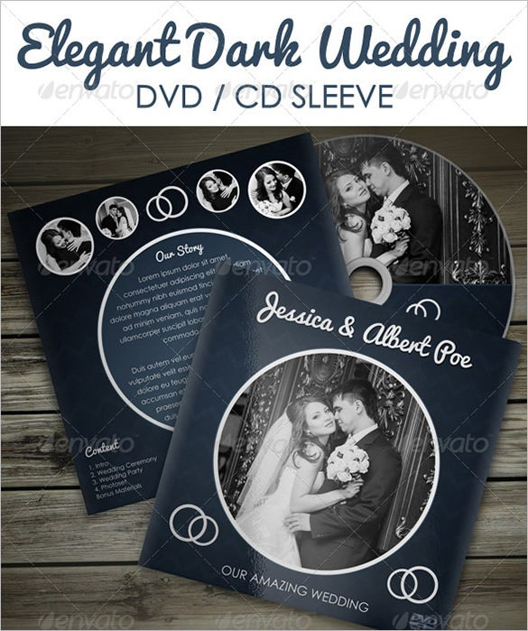 elegant dark wedding psd digital album templates