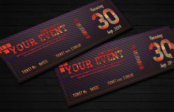 elegant event ticket invitation template download