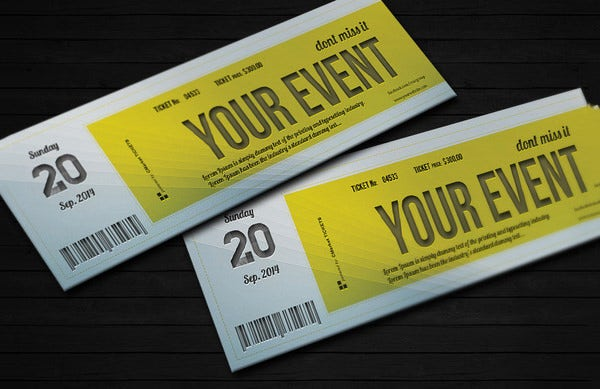 Ticket Invitation Template Free PSD Vector EPS AI Format - Event ticket template photoshop