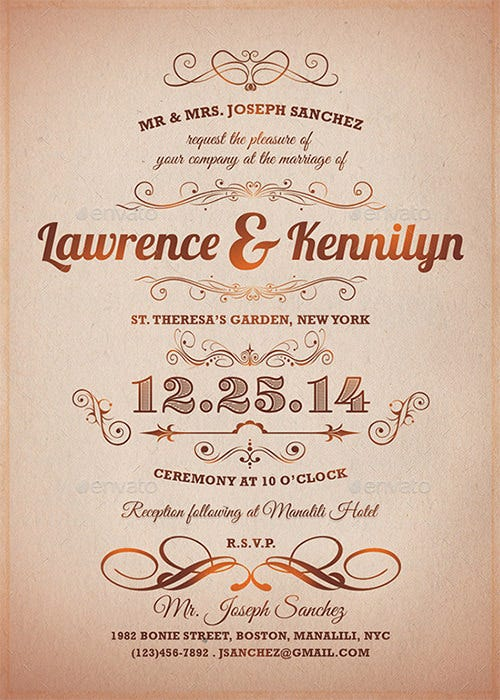 elegant formal invitation template