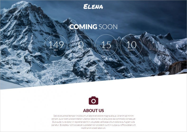 elena coming soon page html5 template 6 788x556