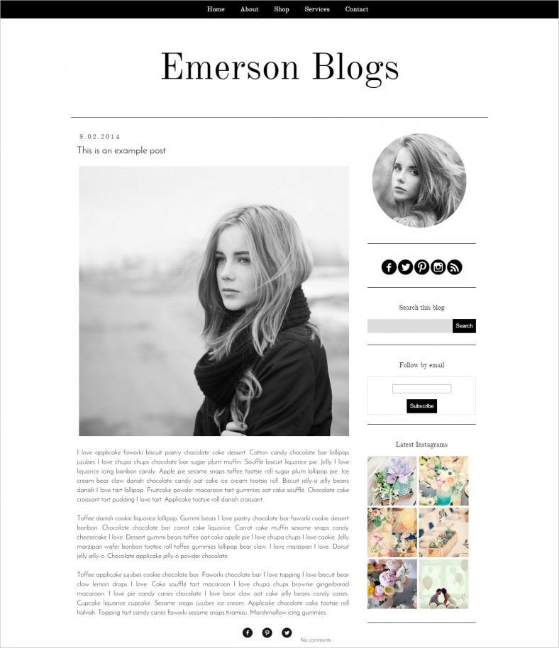 10 best business blogger free premium templates themes free emerson blogger blog template wajeb Images