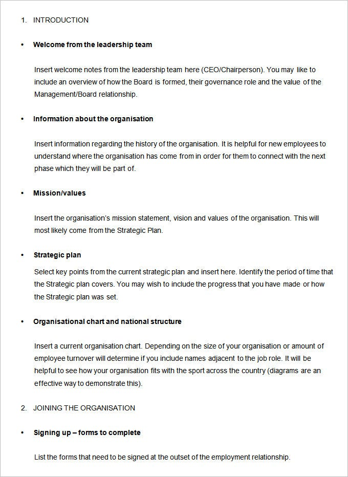 Employee List Samples Employee Handbook Template Employee Handbook