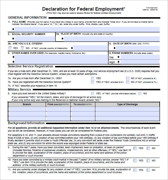 employment packet template