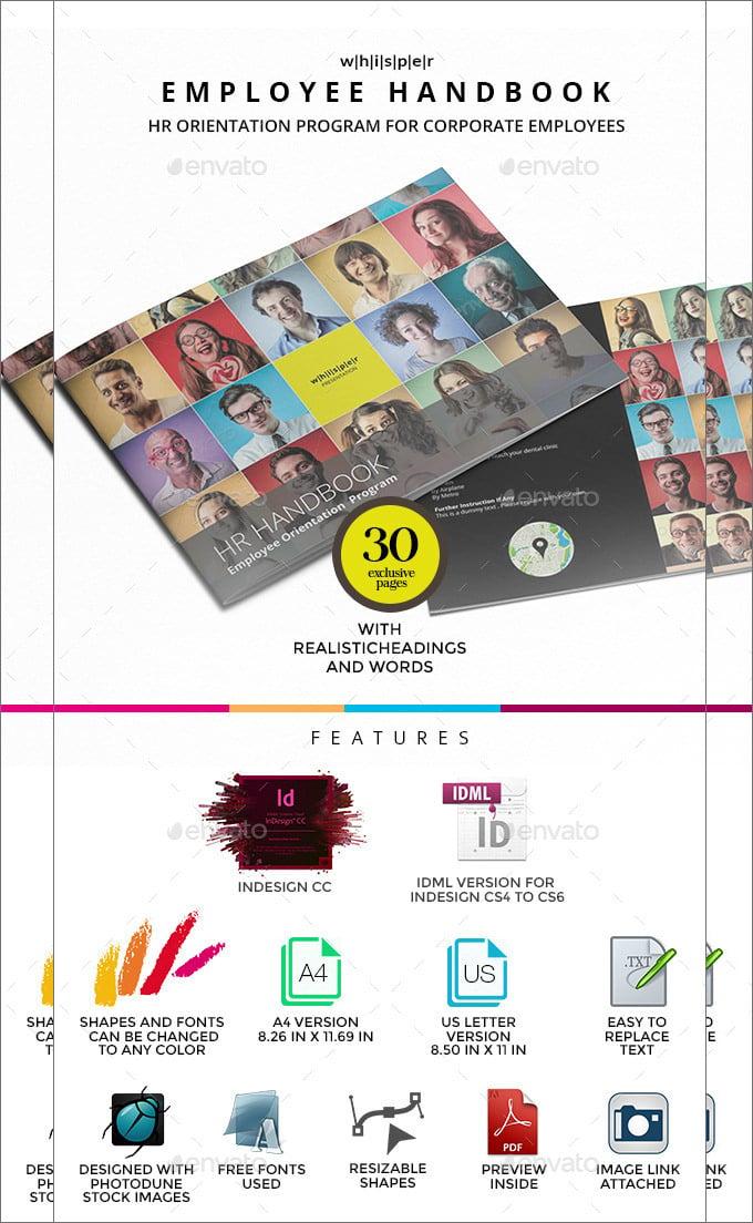 14 sample employee handbook manual templates free premium