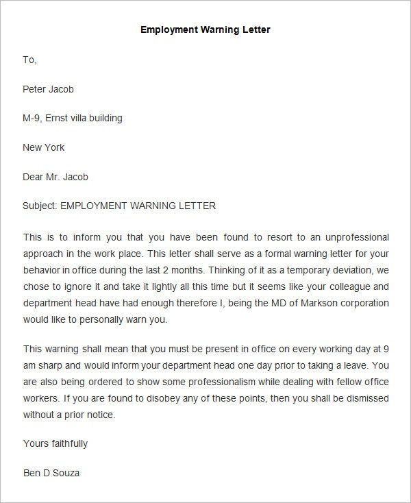 Subcontractor Termination Letter – Employee Termination Letter Template