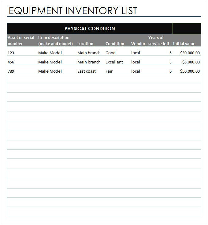 Inventory Report Template - 8 Free Excel Documents Download | Free