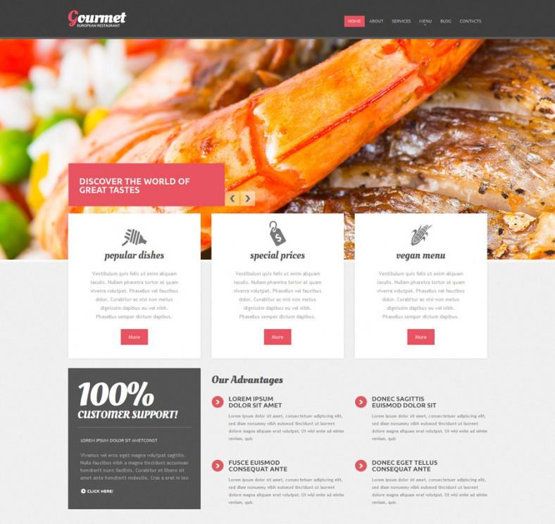 european restaurant responsive drupal template 788x744