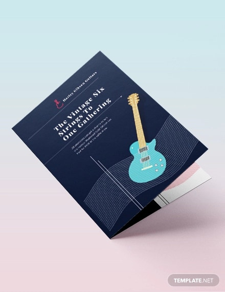 event bi fold brochure template