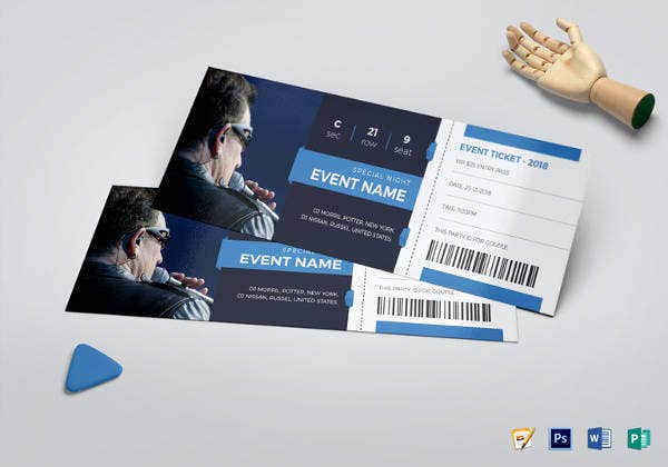 event invitation ticket