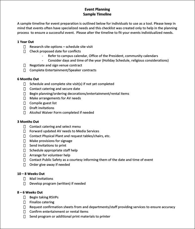 Planner Contract Template Event Contract Template Format Event