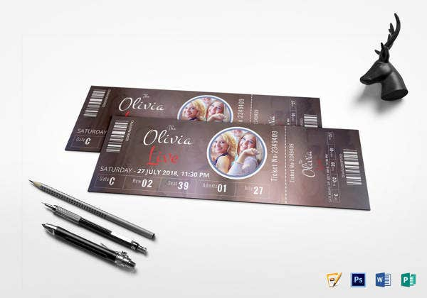 event-show-time-ticket-template