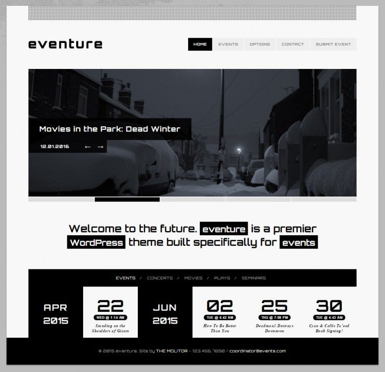 eventure entertainment wordpress theme 788x761