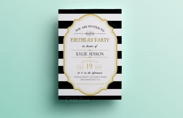 example birthday party invitation template