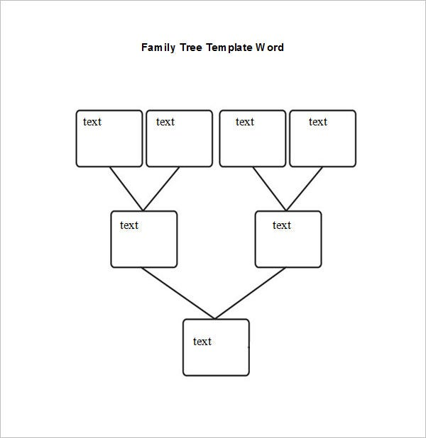 Blank Family Tree Chart  Free Excel Word Documents Download