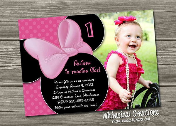 Example Minnie Mouse Invitation Template