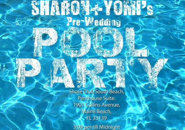 example pool party invitation template