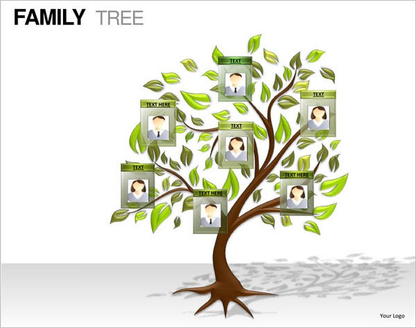 example powerpoint family tree template