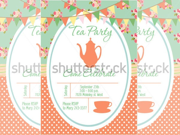 Example Tea Party Invitation