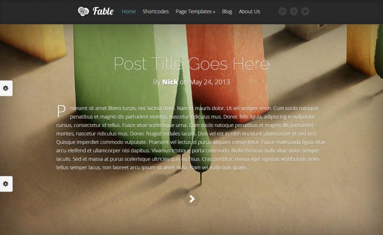 Fable-WordPress-Theme