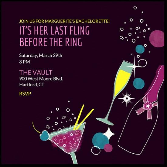 fabulous bachelorette invitation templates