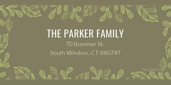 family-address-label-template
