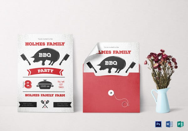 family reunion bbq invitation template3