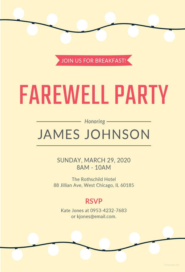 Farewell Party Invitation Template - 29+ Free PSD Format ...