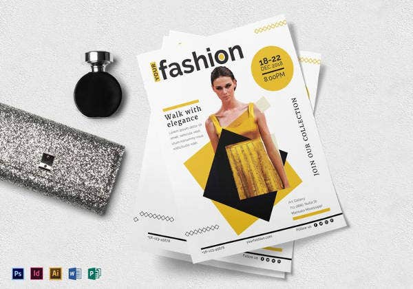 fashion gallery flyer template in ms word format