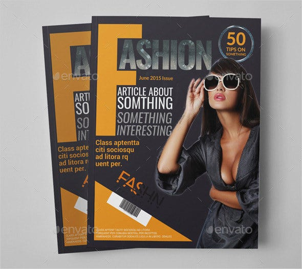 fashion news magazine psd template