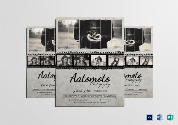 fashion photographer flyer template