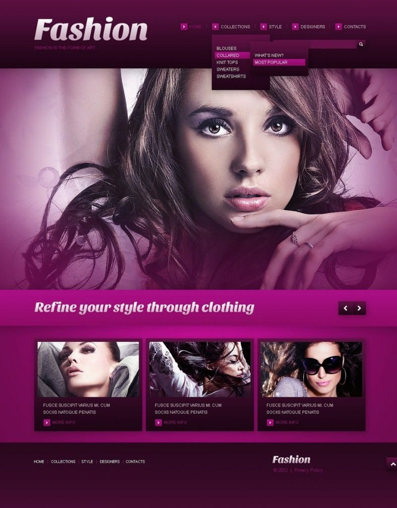 fashion pink responsive wordpress theme 39 788x1008