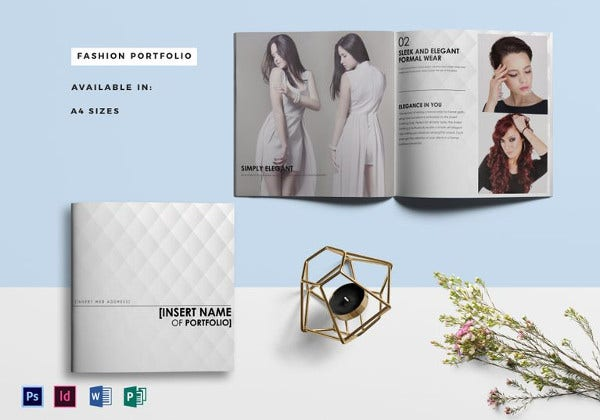 fashion portfolio catalog photoshop template
