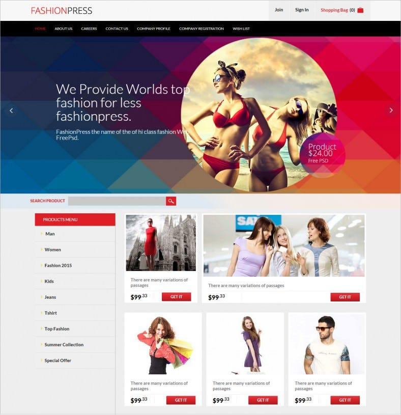 fashion press flat psd template free 788x815