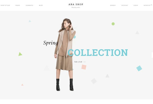 fashion store multipurpose psd template