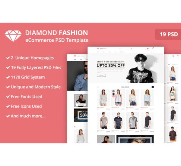 fashion ecommerce psd templat
