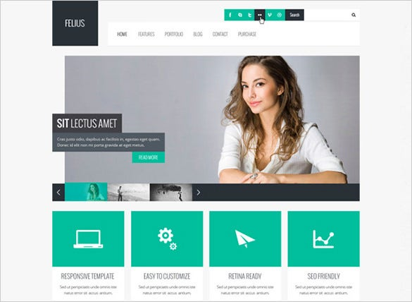 felius–multipurpose psd template