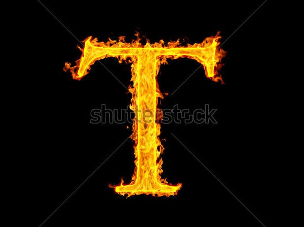 This Fire Large Alphabet Letters Comes With Glittering Orange Color Which Looks Like A And It Is Creatively Designed Numbers As Well