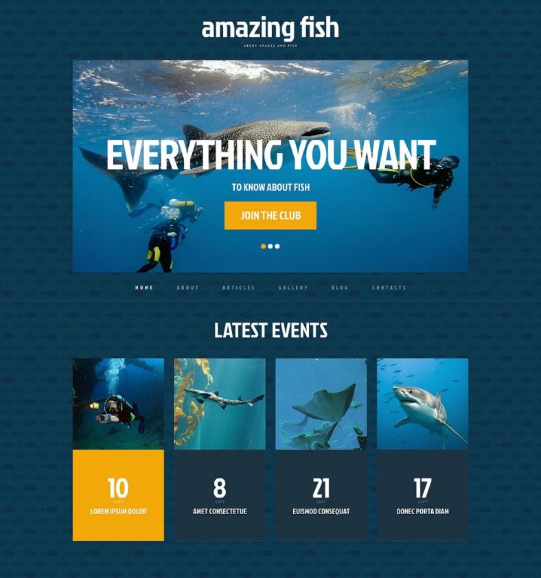 fish blue responsive wordpress theme 788x842