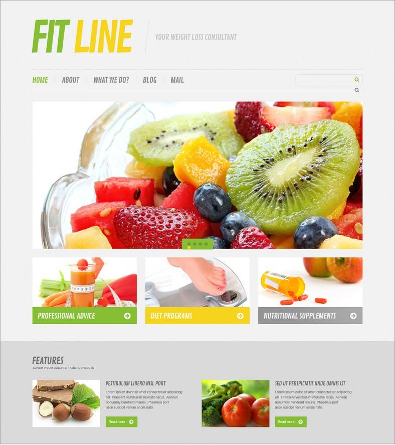 9+ Best Diet & Nutrition Website Templates |Free & Premium Themes ...