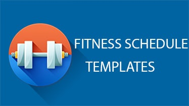 fitness schedule templates