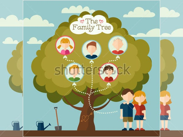 flat avatars family tree template for kids - Art Templates For Kids