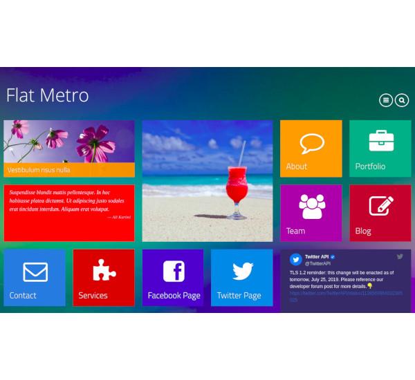 flat metro responsive drupal theme