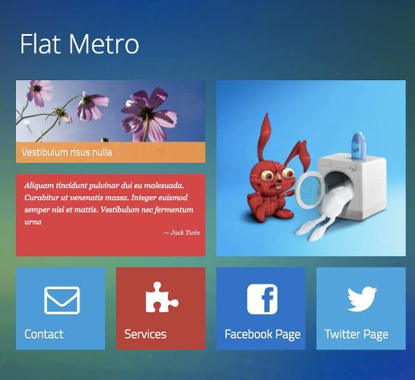 flat metro responsive drupal theme1